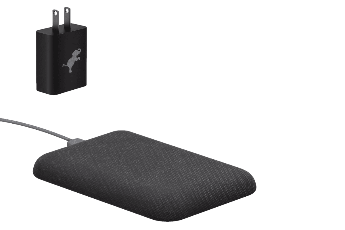 Image of Nimble wireless charging station in the USB-C series of iPhone X compatible accessories.