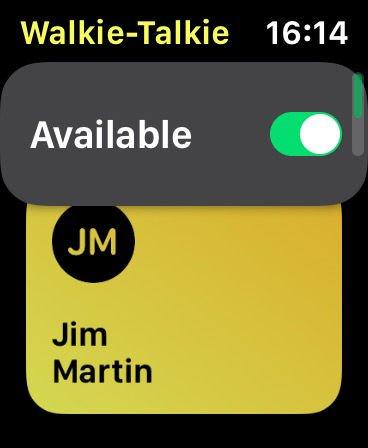 Using Walkie-Talkie on Apple Watch in watchOS 5: start a conversation