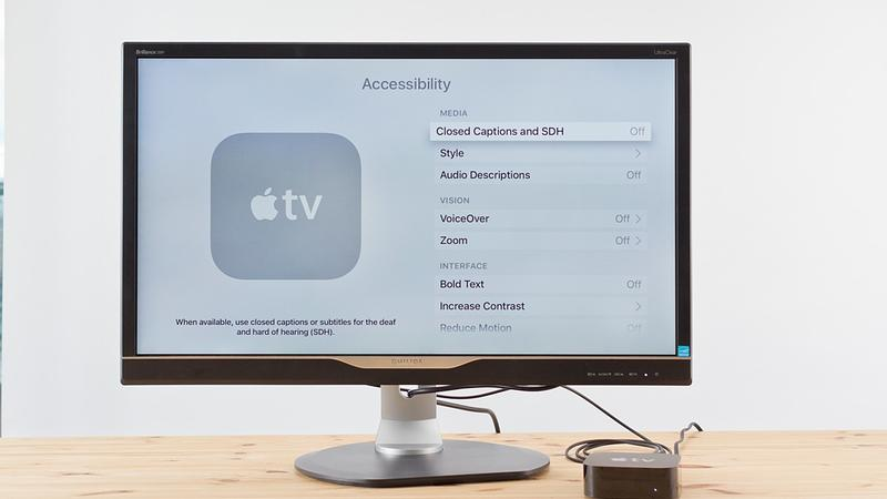 How to activate VoiceOver on the Apple TV