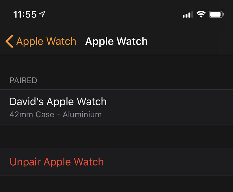 How to set up a new Apple Watch: Unpair