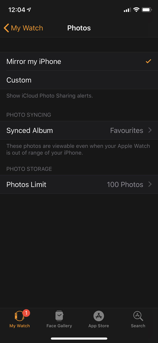 How to set up Apple Watch: Photos