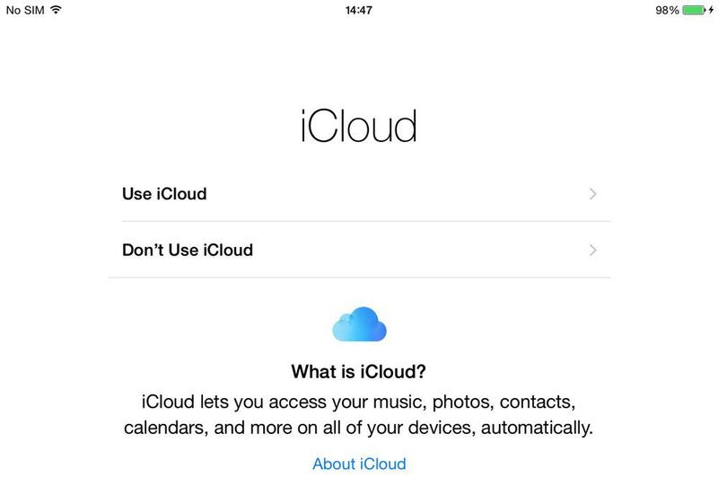 How to set up iCloud on iPad