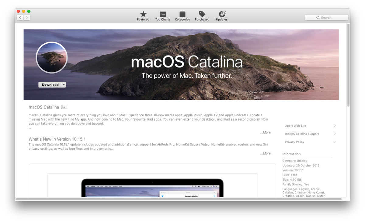 How to set up iCloud on Mac: update to macOS Catalina