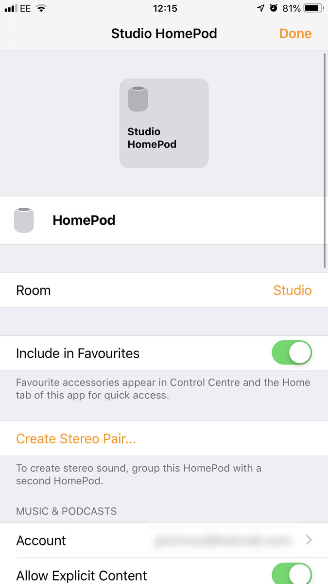 How to set up a HomePod stereo Settings