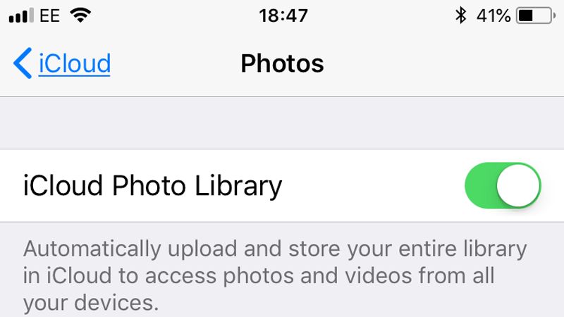 To turn off iCloud, all your Photos without having to remove the