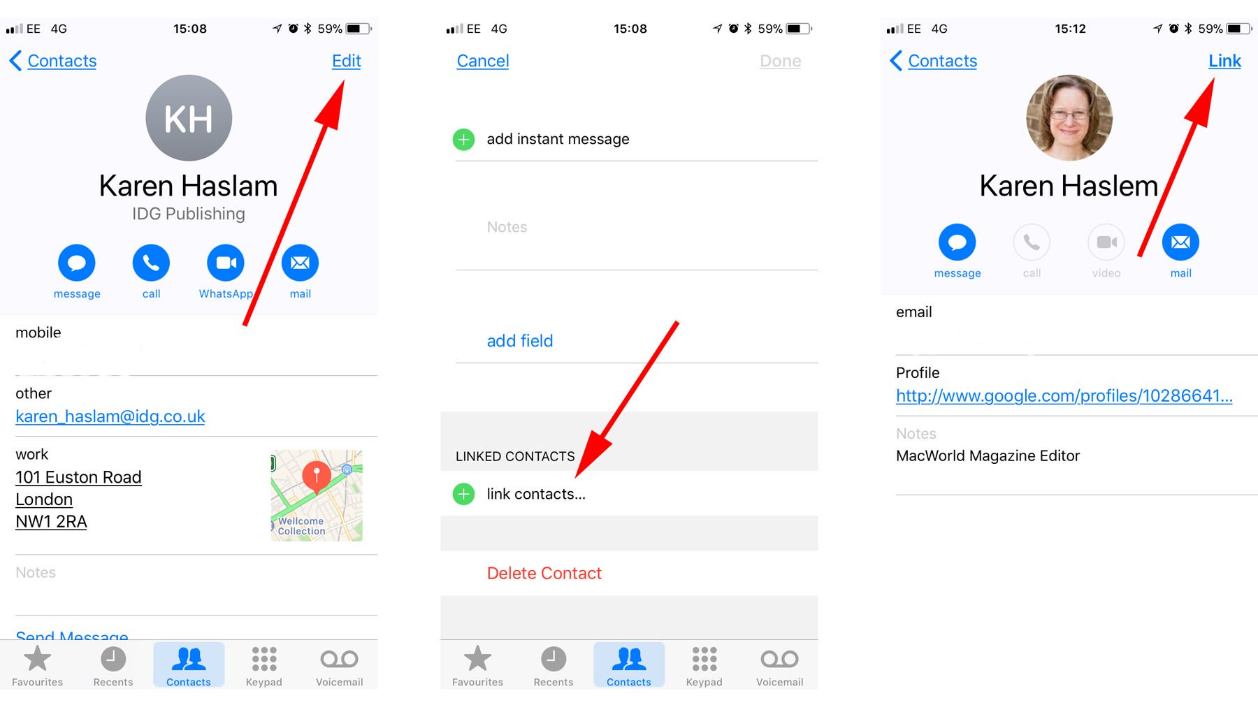 How do I delete or merge duplicate contacts on your iPhone: Link