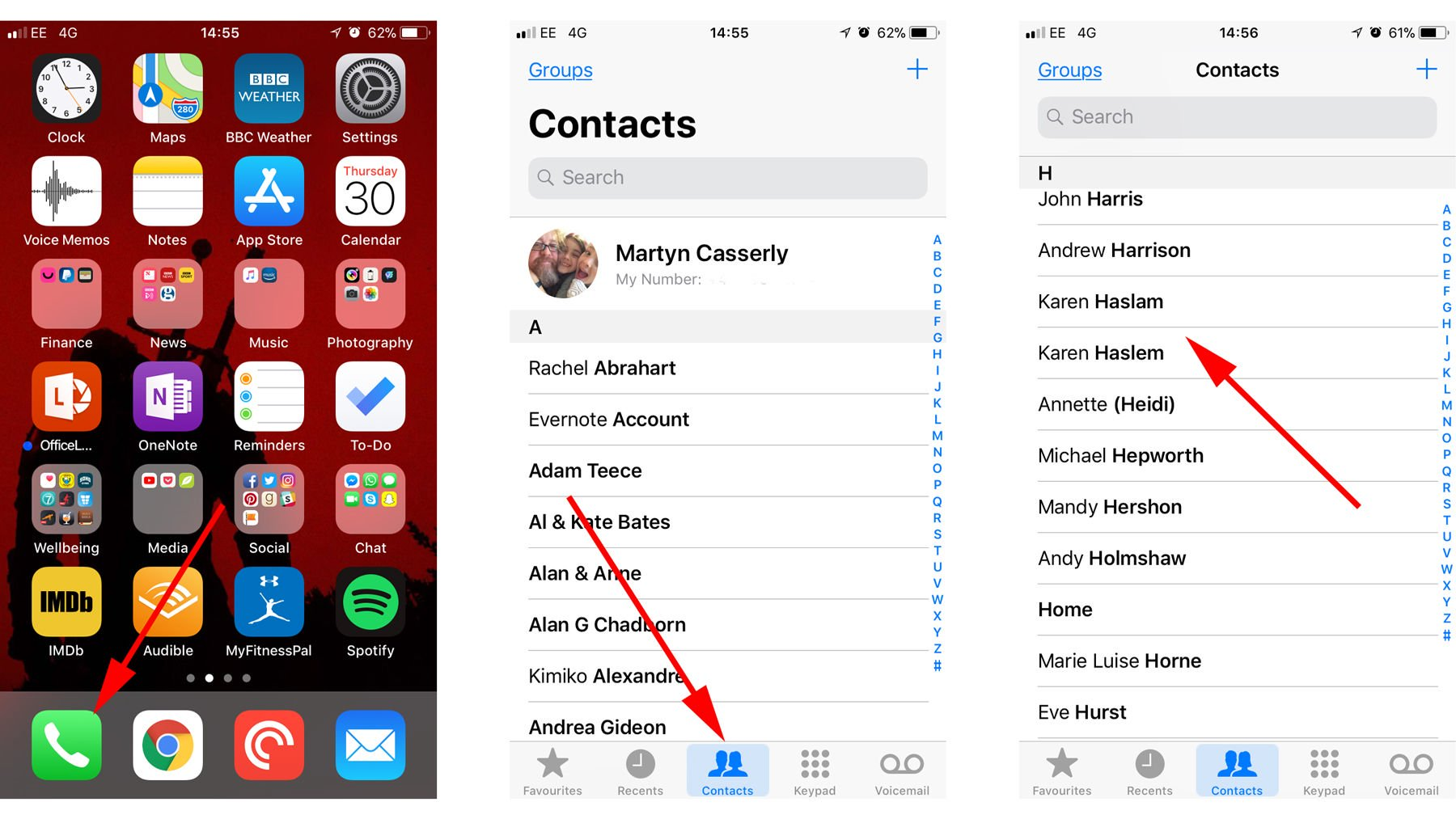 How do I delete or merge duplicate contacts on your iPhone contacts to Merge