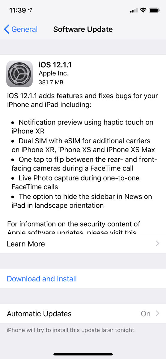 How to set up iCloud: update iOS