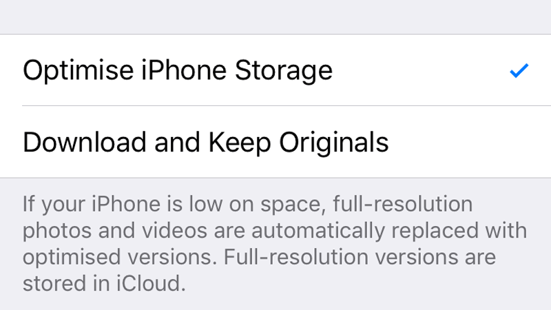 To turn off iCloud, all your Photos without having to remove the Implement from the storage