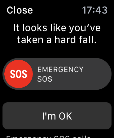 How to use traps for the detection of the Apple Watch with a screen with a Warning message