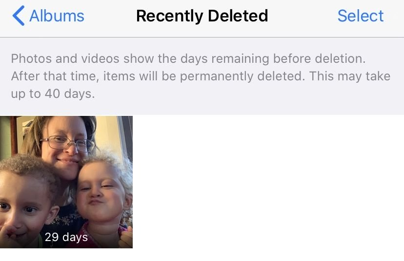 Recently deleted photos