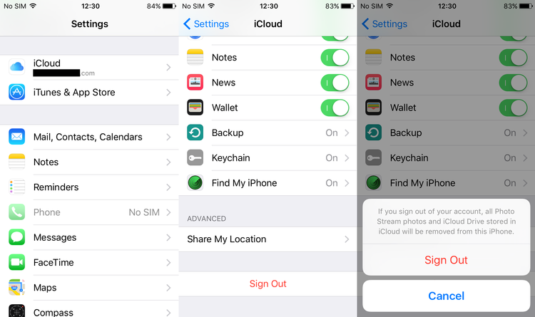 How to fix 'iCloud backup cannot be completed' on iPhone, iPad and iPod Touch - Sign out