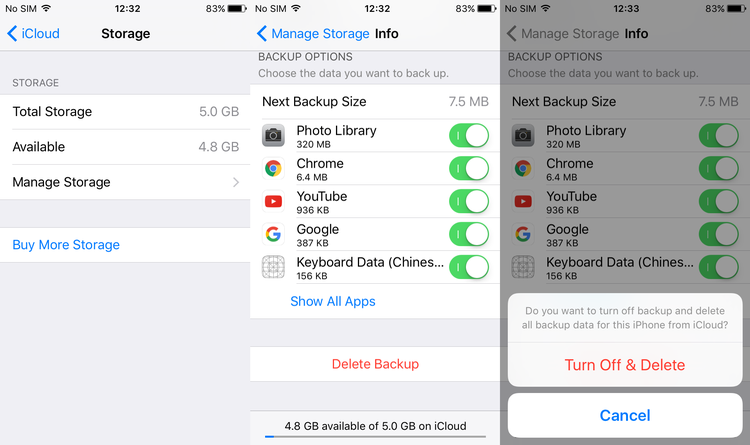How to fix 'iCloud backup cannot be completed' on iPhone, iPad and iPod Touch - Storage