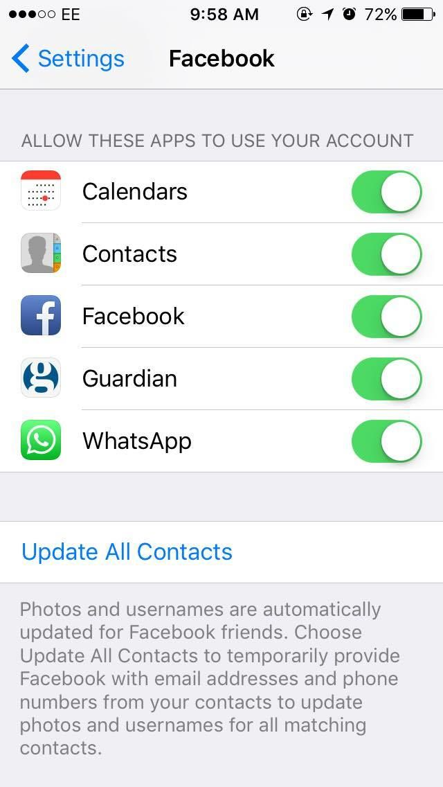 iPhone photo contacts