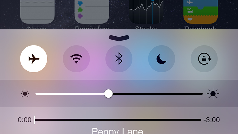 Use AirPlane mode to cancel a message