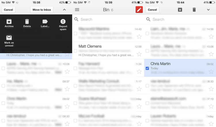 How to delete archived messages on Gmail on iPhone - Delete