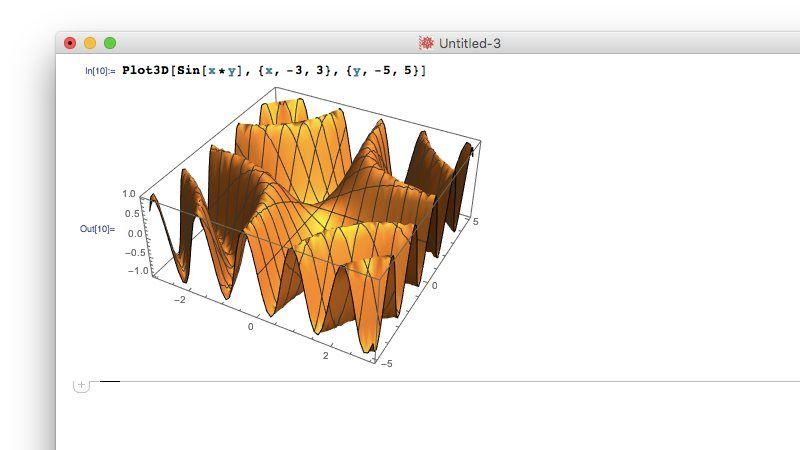 Mathematica 3D chart