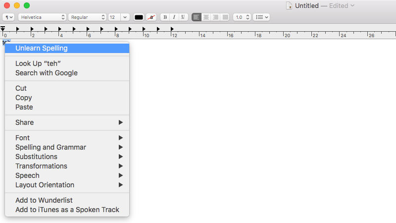 How to edit your Mac's dictionary