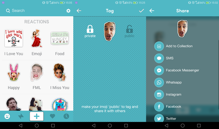 Create a custom emoji - share