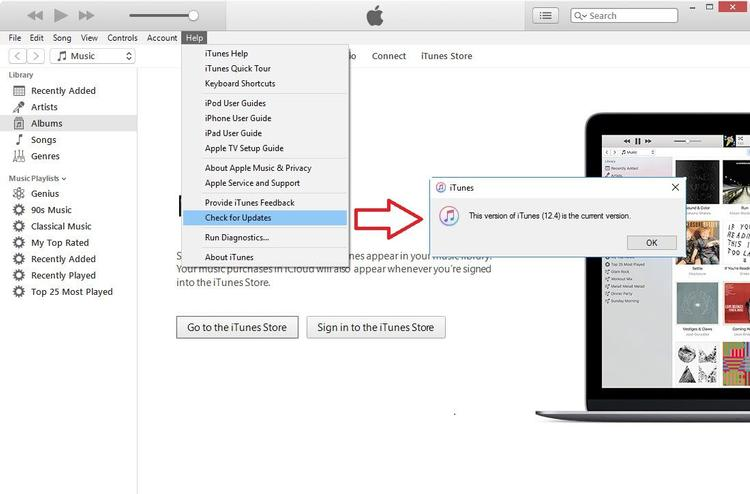To download the iTunes Update