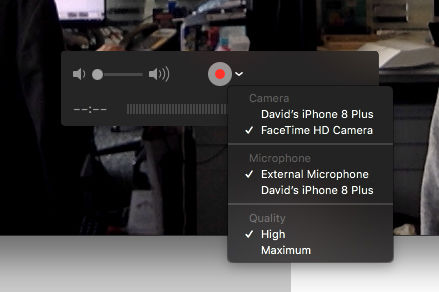 How to record FaceTime calls on iPhone: Select iPhone