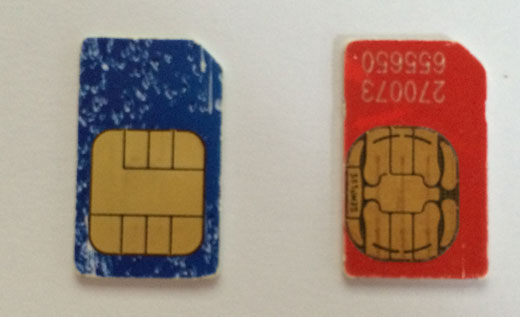 How to cut a SIM card and make a nano SIM card for iPhone and iPad: guide markers for SIM cards