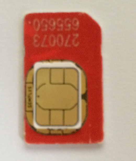 Cut a SIM card and make a nano SIM card for iPhone and iPad: measure the SIM card