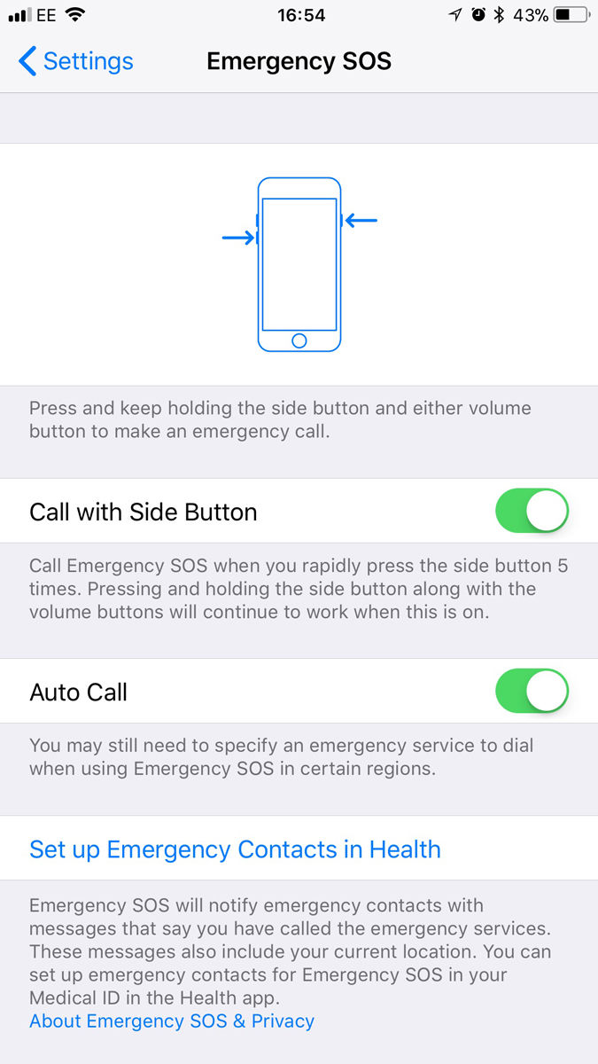 How to use the SOS mode on iPhone