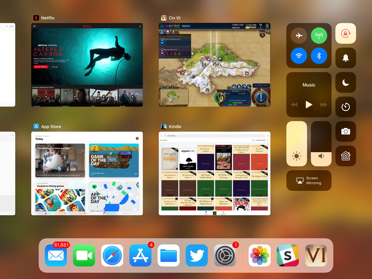 How to use the iPad dock in iOS 11: Control Center