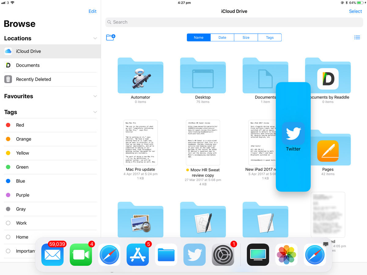 How to use the iPad dock in iOS 11: Open a new app