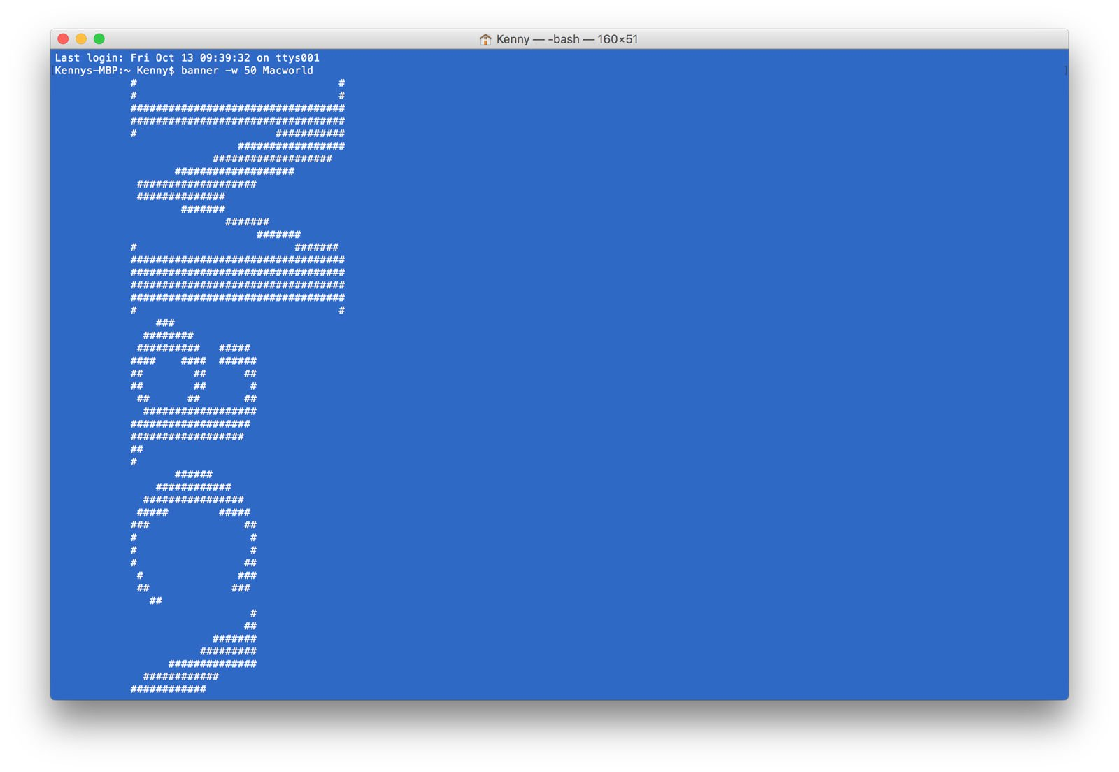 Terminal tips, tricks and projects for Mac: Ascii art