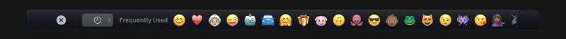Using Touch Bar on new MacBook Pro: Emoji