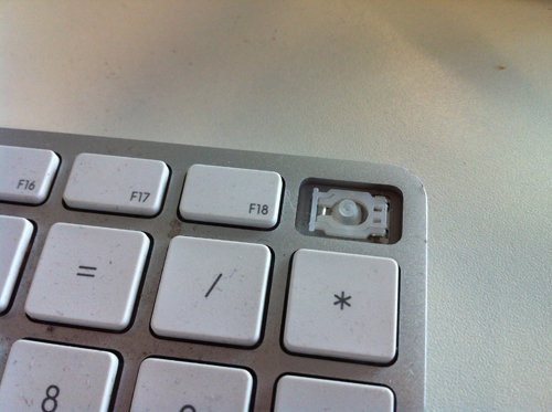 How to remove iMac keyboard keys