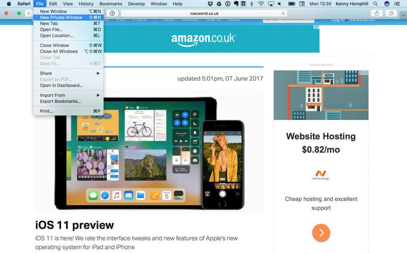 How to protect privacy on a Mac: private browsing