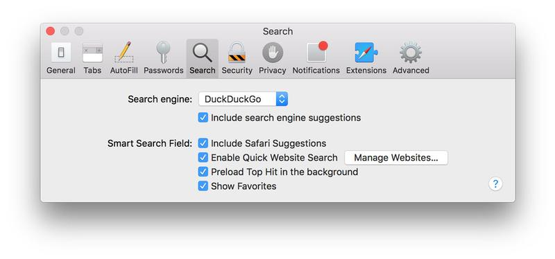 How to protect privacy on a Mac: DuckDuckGo
