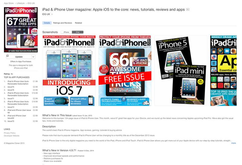Sell ​​an app in the App Store: iPad & iPhone user magazine