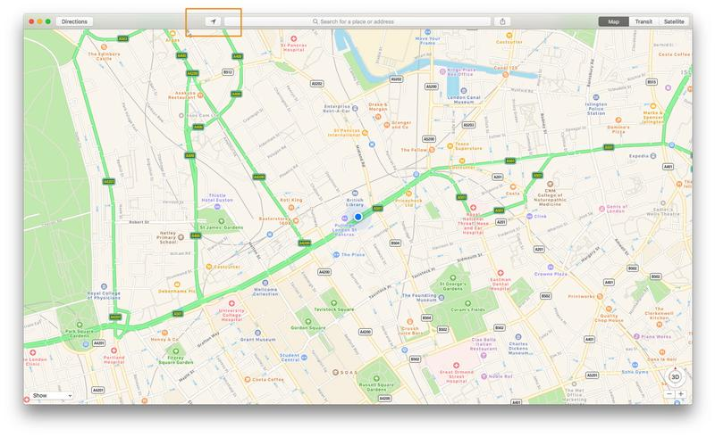How to use Apple Maps on Mac: Find location