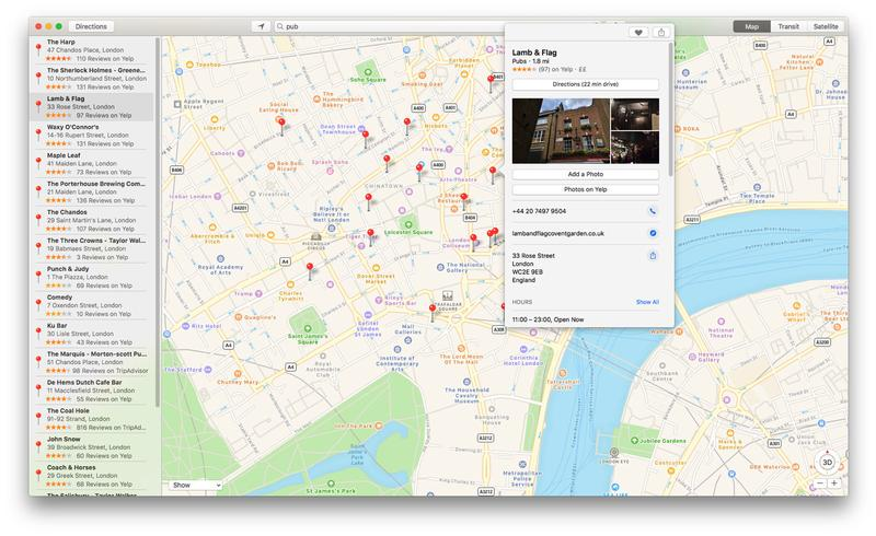 How to use Apple Maps on Mac: Favorites