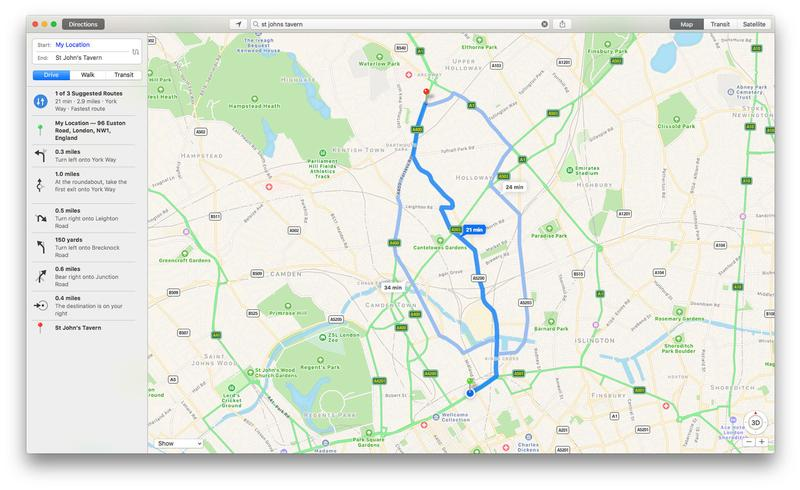 How to use Apple Maps on Mac: Directions