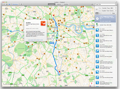 How to use Apple Maps on a Mac