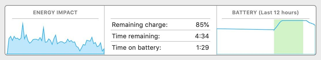 Remaining battery Mac