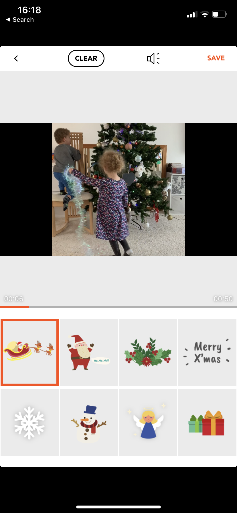 Add Christmas effects to video