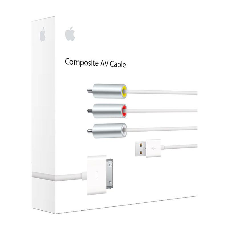 How to connect iPhone or iPad to TV: Composite AV cable