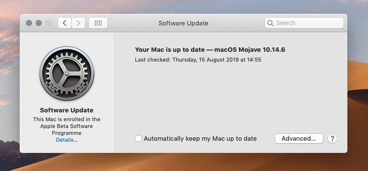 Enroll Mac for beta