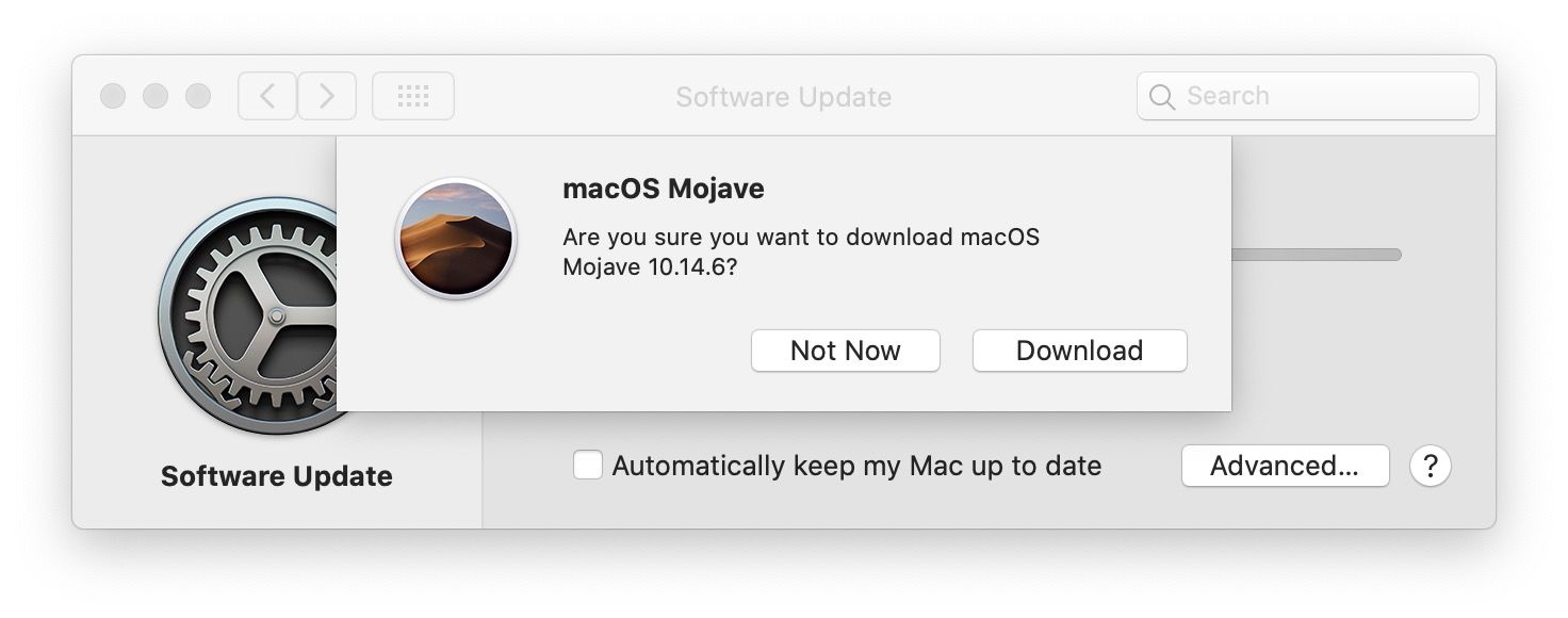Download the Mojave installer