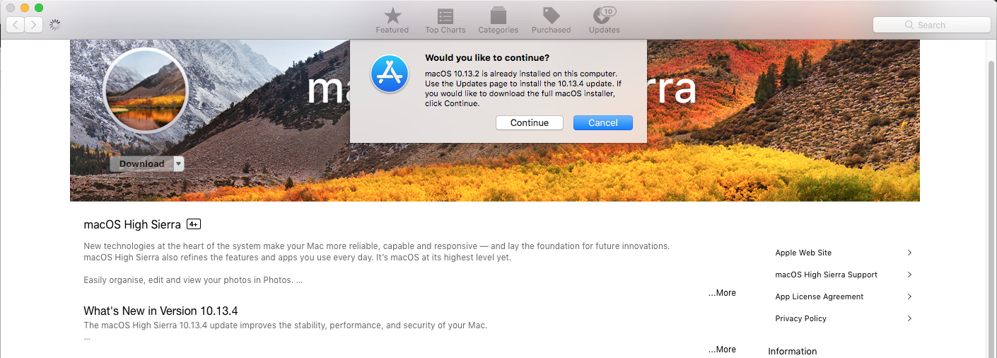 Download macOS from Mac App Store
