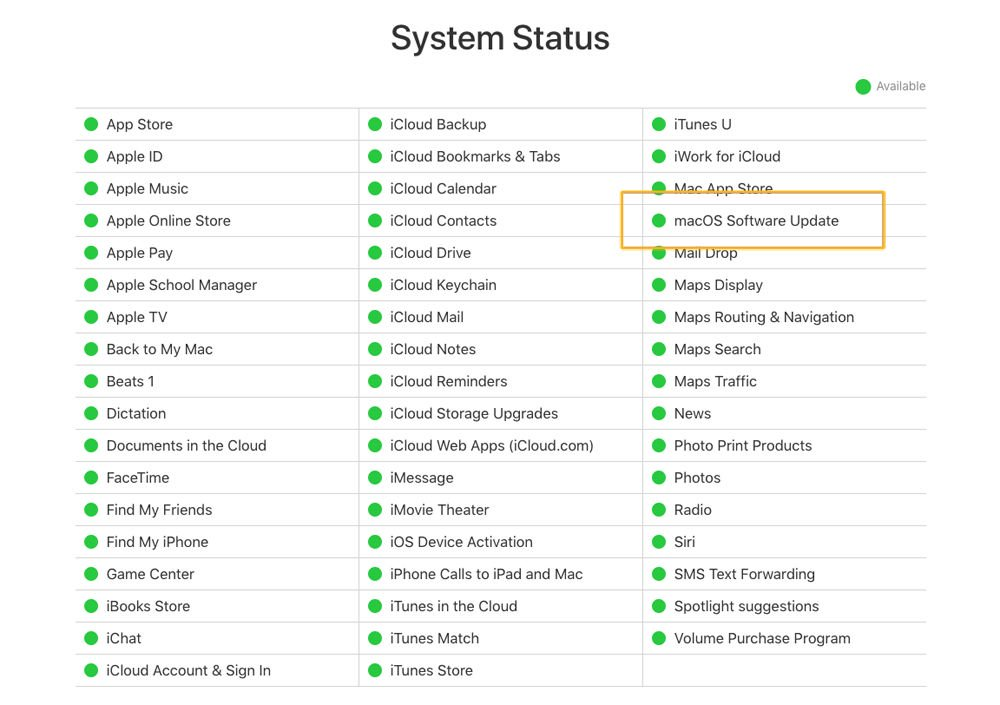 Fix a Mac that doesn't complete a macOS update: System status
