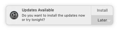 Catalina updates Mac