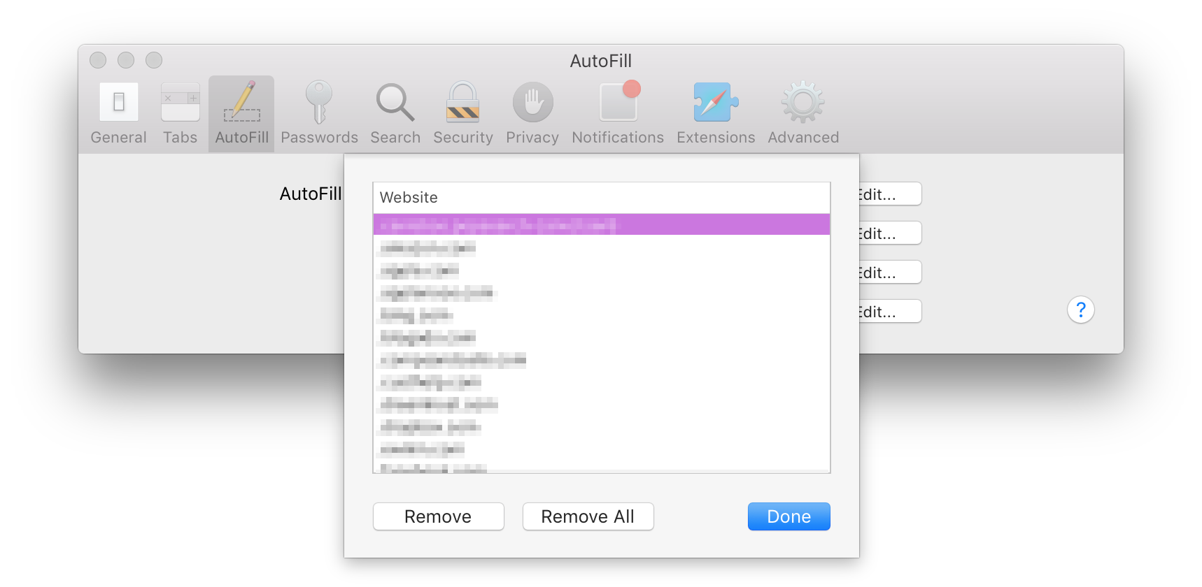 How to clear Safari's cache and history on Mac: autofill