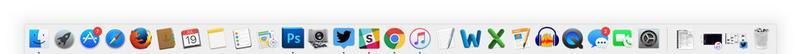 Take screenshot on Mac: Dock